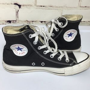 Converse classic black high top sneakers. Size 7